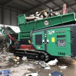 TYRON 1500 XL shredding of insulation, plastics and foils