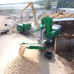 ARTHOS 1600 mobile & TYRON waste wood recycling