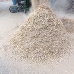 ARTHOS 1600 mobile waste wood recycling endproduct
