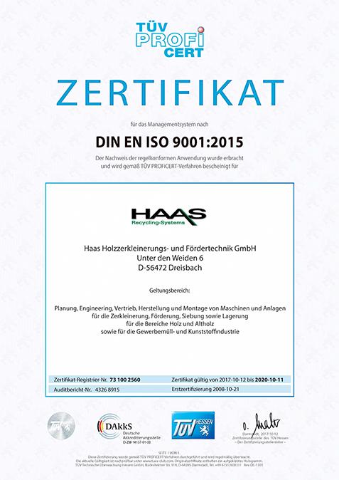 TÜV Zertifizierung Hessen 2008