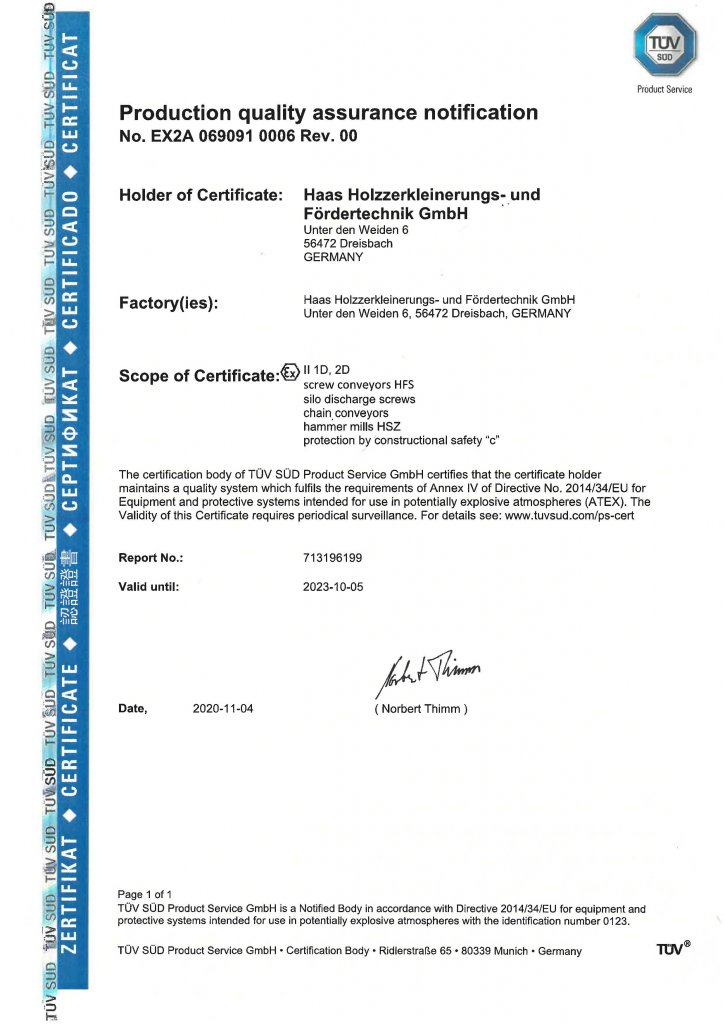 Explosion protection: we are certified